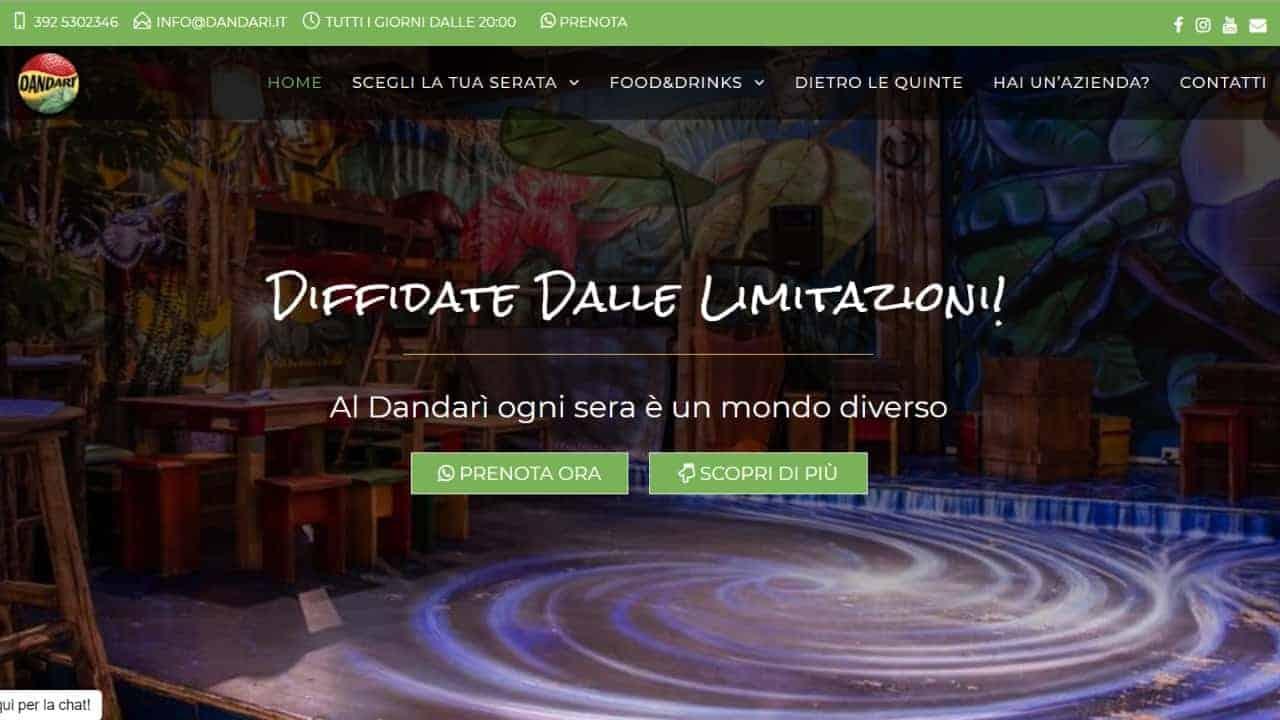 Dandarì Pub - sito web realizzato da sfumaturedigitali.com
