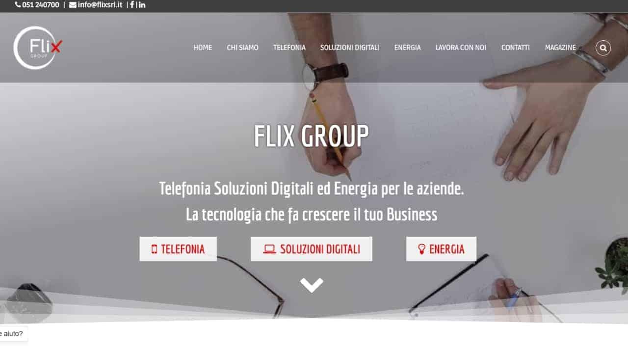 Flix Group - sito web realizzato da sfumaturedigitali.com