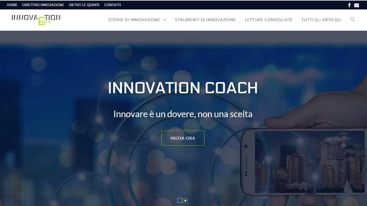 Innovation coach - sito web realizzato da sfumaturedigitali.com