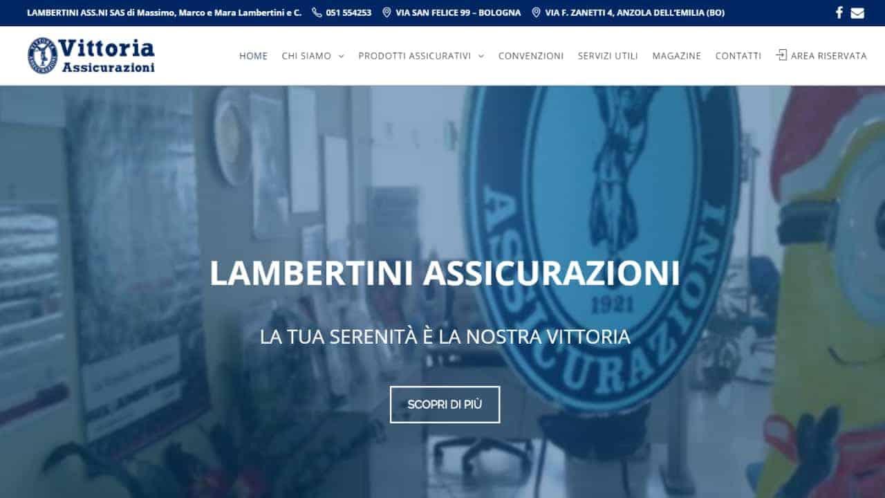 Lambertini Assicurazioni - sito web realizzato da sfumaturedigitali.com
