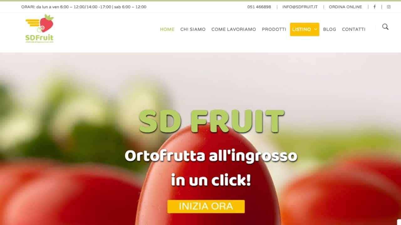 SD Fruit - sito web realizzato da sfumaturedigitali.com